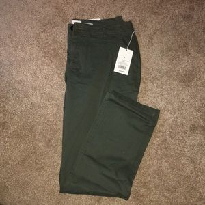 Green dress pants. New with tags.